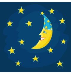 Cartoon moon vector