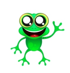 Fun frog on white background vector image
