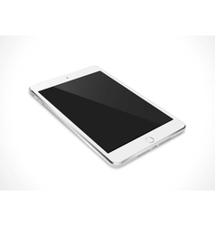 Realistic tablet pc computer with black screen vector image