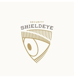 Shield Eye Security Abstract Sign Symbol vector image vector image