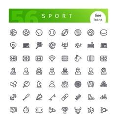 Sport Line Icons Set vector image