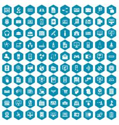 100 database icons sapphirine violet vector