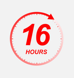 16 hour icon vector image