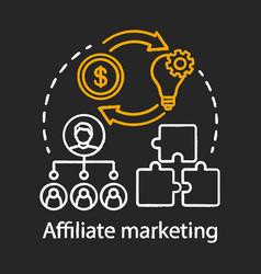 Affiliate marketing chalk concept icon digital vector