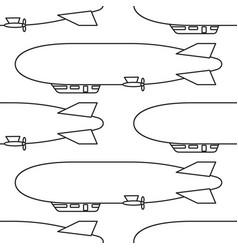 airship vessel pattern vector image