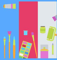 art supplies banners vector image