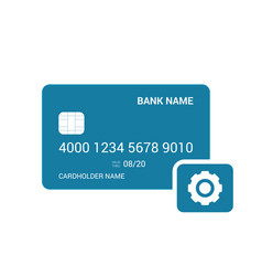 bank card gear settings icon vector image