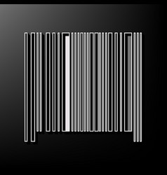 Bar code sign gray 3d printed icon on vector