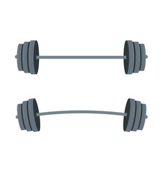 barbell with barbell for lifestyle vector image
