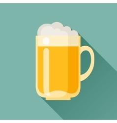 Beer mug in flat design style vector