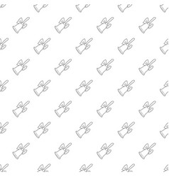 bell icon outline style vector image