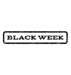 Black week watermark stamp vector