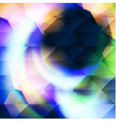 blue polygonal hexagonal elements vector image
