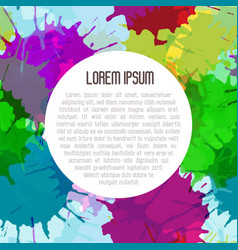 bright watercolor background with paint blots vector image