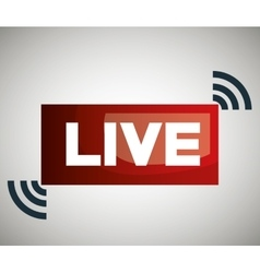 Button icon live streaming design graphic vector