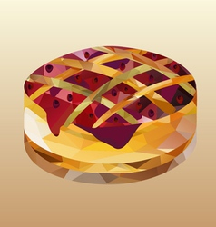 cake with jam polygon vector image