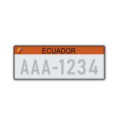 Car number plate vehicle registration license of vector
