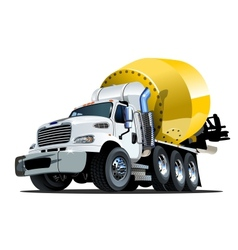 Cartoon Mixer Truck one click repaint option vector image