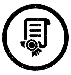 Certified Scroll Document Rounded Grainy Icon vector