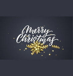 christmas greeting card black background design vector image