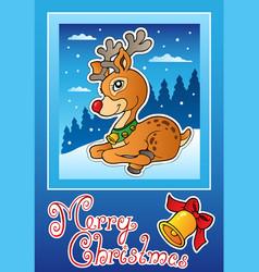 christmas theme greeting card 3 vector image