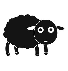 Cute sheep icon simple style vector