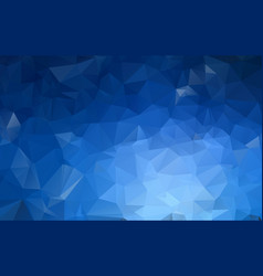 dark blue low poly crystal background polygon vector image