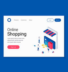 ecommerce mobile store concept vector image