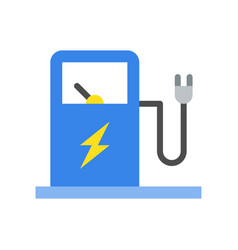 Electric vehicle charging station icon vector