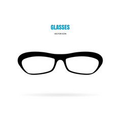eye glasses icon isolated on white background vector image