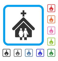 Family church framed icon vector