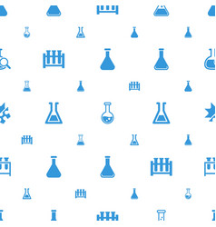 Flask icons pattern seamless white background vector