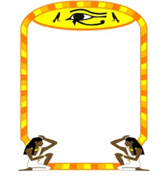 frame Egyptian vector image