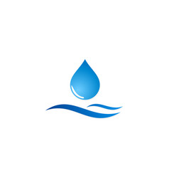 fresh water drop logo vector image