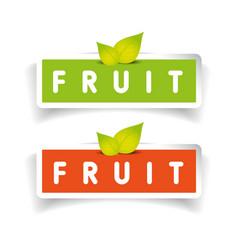 Fruit label set vector