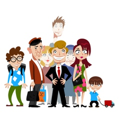 Funny people vector image