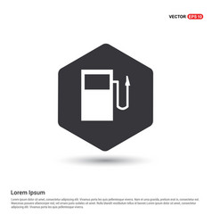 Gasoline station icon vector