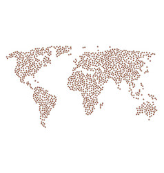Global map pattern of bug icons vector