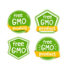 gmo free product icon isolated logo vector image