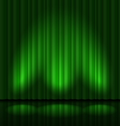 Green drapes vector