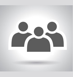 Group people sign icon share symbol button vector