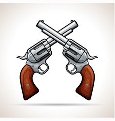 gun design on white background vector image