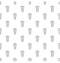 Hair fix clip pattern seamless vector