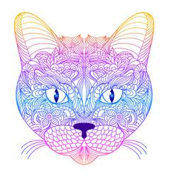 Head of cat vector
