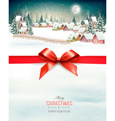Holiday christmas background with a winter vector