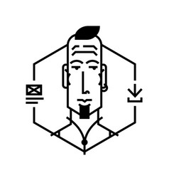 ideal icon for your flashy design projects image vector image