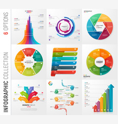 infographic collection of 6 options vector image