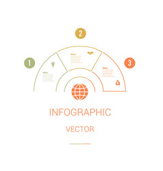 Infographic template colourful pie chart vector