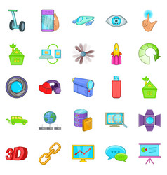 Introduction icons set cartoon style vector