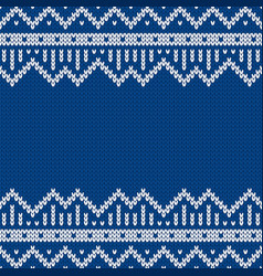 Knitwear seamless texture template with empty vector